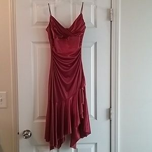 EUC Red City Triangles sparkly dress size S